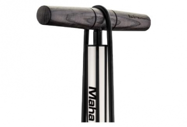 Birzman Maha Push & Twist Fatty Floor Pump 25 PSI / 1.7 Bar Silver