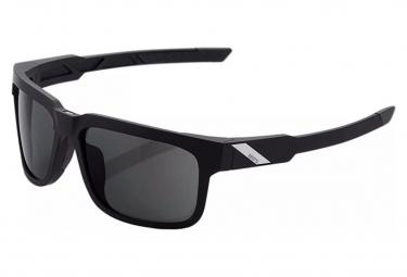 Lunettes 100% Type S - Soft Tact Noir - Ecran Fumé