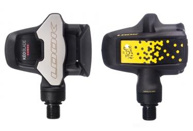 Paire de pedales look keo blade carbon tour de france special edition noir jaune