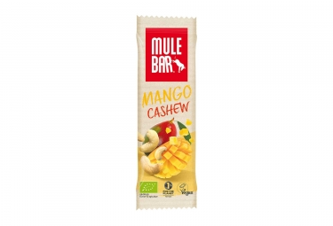 Barre Énergétique MuleBar Bio & Vegan Mangue Noix de Cajou 40 g