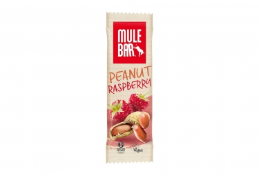 Image of Barre energetique mulebar vegan cacahuete framboise 40 g