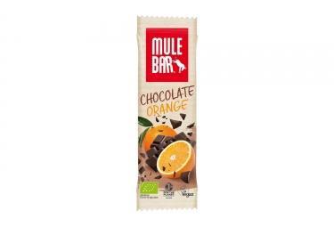 Barre energetique mulebar bio vegan chocolat orange 40 g