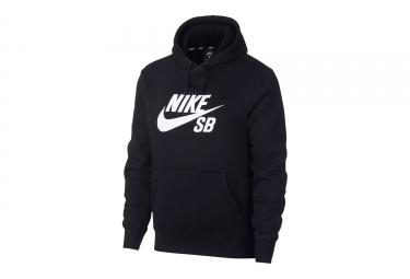 Sweat à Capuche Nike SB Icon Noir Blanc