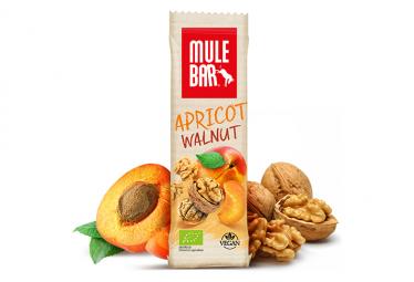 Barre energetique mulebar bio vegan abricot noix 40 g
