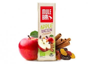 Barre energetique mulebar bio vegan pomme raisins cannelle 40 g