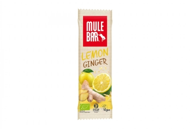 Barre energetique mulebar bio vegan citron gingembre 40 g