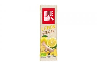 Barre Énergétique MuleBar Bio & Vegan Citron Gingembre 40 g