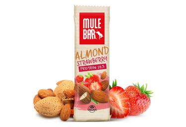 Barre proteinee mulebar vegan amande fraise 40 g