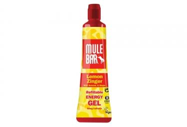 Gel energetique mulebar vegan citron gingembre guarana 37 g