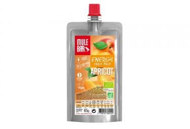 MuleBar Organic & Vegan Fruit Pulp Pouch Apricot 65 g