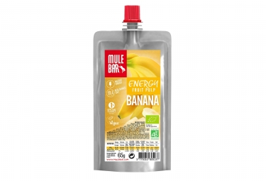 MuleBar Organic & Vegan Fruit Pulp Pouch Banana 65 g