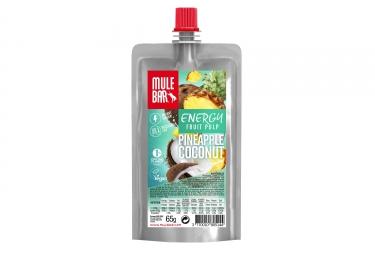 Pulpe de Fruits MuleBar Vegan Ananas Noix de Coco 65 g