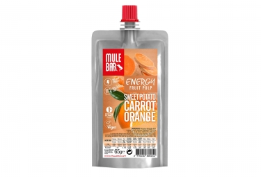 Pulpe de fruits mulebar vegan patate douce carotte orange 65 g