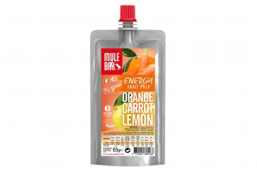 MuleBar Vegan Fruit Pulp Pouch Orange Carrot Lemon 65 g