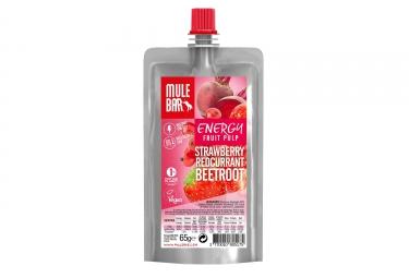 Pulpe de fruits mulebar vegan fraise groseille betterave 65 g