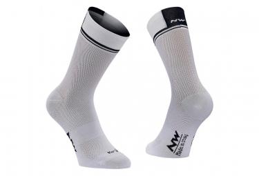 Paire de chaussettes northwave logo 2 blanc 44 47