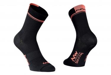 Paire de chaussettes northwave logo 2 noir orange 40 43