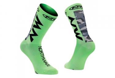 Paire de chaussettes northwave extreme air vert 44 47