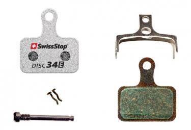 Paire de Plaquettes Organiques SwissStop Disc 34 E pour Freins Shimano Route et E-Bike