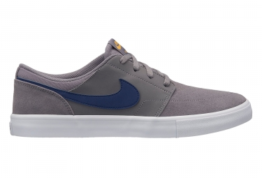 Nike SB Solarsoft Portmore II Shoes Grey Blue
