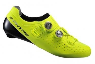 Paire de chaussures route shimano rc9 jaune 40