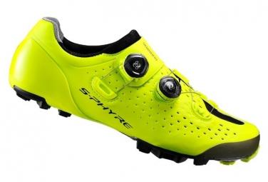 Paire de chaussures shimano xc9 s phyre wide jaune 42