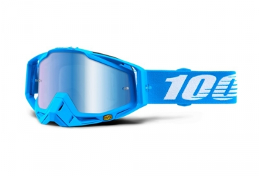 Masque 100% Racecraft Monoblock Bleu Ecran Miroir