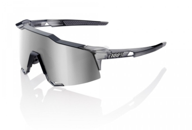 100% Sunglasses SPEEDCRAFT LL - Soft Tact Grey - HiPER Silver Mirror
