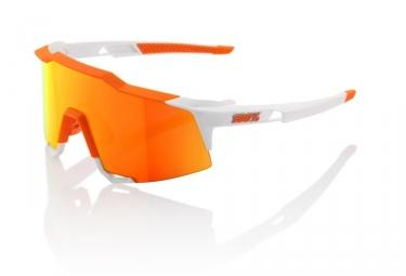 100 lunettes speedcraft ll soft tact blanc hiper miroir rouge