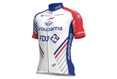 Maillot manches courtes ale team groupama fdj 2018 blanc bleu rouge s