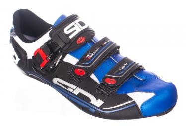 Chaussures route sidi genius 7 blanc bleu 46