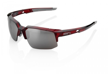 Lunettes 100 speedcoupe soft tact rouge hiper mirroir argent