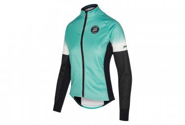 Spiuk Performance Women Thermal Jacket Teal Blue/Black