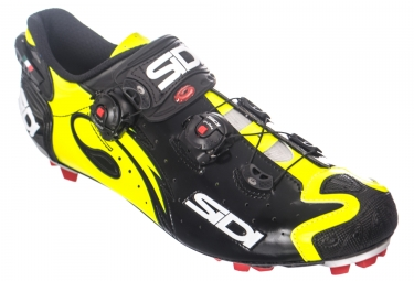 Chaussures vtt sidi drako carbon srs noir jaune 46