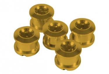 Pack de 5 vis insight alu 6 5x4mm jaune