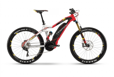 Vtt electrique haibike xduro allmtn 10 0 27 5 shimano deore xt 10v 2018 argent rouge
