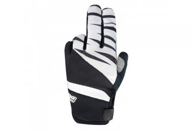 Paire de gants longs racer gp style noir blanc s