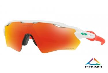 Paire de lunettes enfant oakley radar ev xs path polished white prizm ruby oj9001 11
