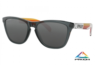 Paire de lunettes oakley frogskins grips collection crystal black prizm black oo9013