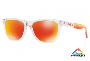 Paire de lunettes oakley frogskins grips collection polished clear prizm ruby oo9013