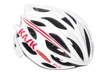 Casque kask mojito blanc rouge l 59 62 cm