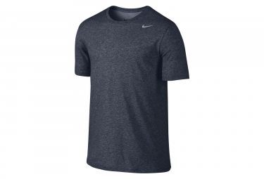 Maillot manches courtes nike dry training homme bleu gris l