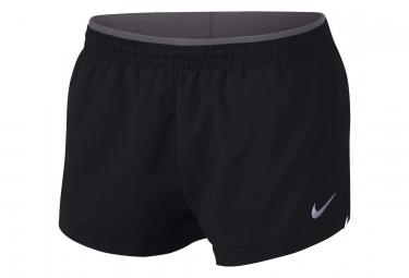 Nike Short Elevate 3 Black Grey Mujer