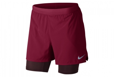 Short 2 en 1 nike flex stride rouge homme l