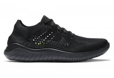 Nike fa18 shoes free rn flyknit 2018 noir femme t 38