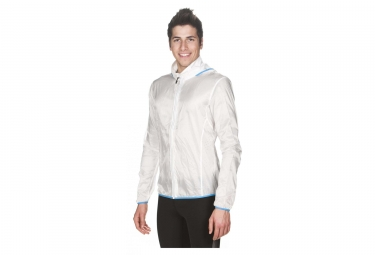 Veste coupe vent arena run windbreaker blanc l