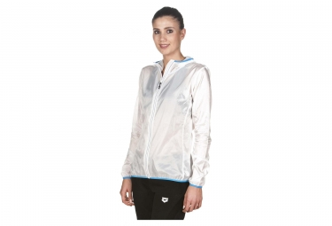 Veste coupe vent femme arena run windbreaker blanc xs