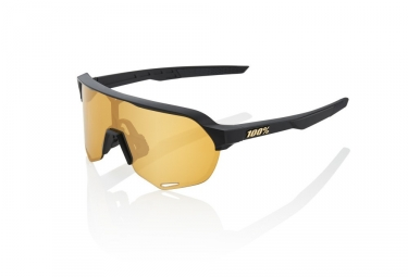 100% S2 Sunglasses - Matte Black - Gold