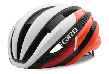 Casque giro synthe blanc rouge m 55 59 cm