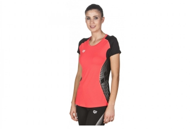 Maillot Manches Courtes Arena Panel Rouge Noir